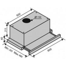 Вытяжка встраиваемая Ventolux GARDA 60 X D5 (1000) EU